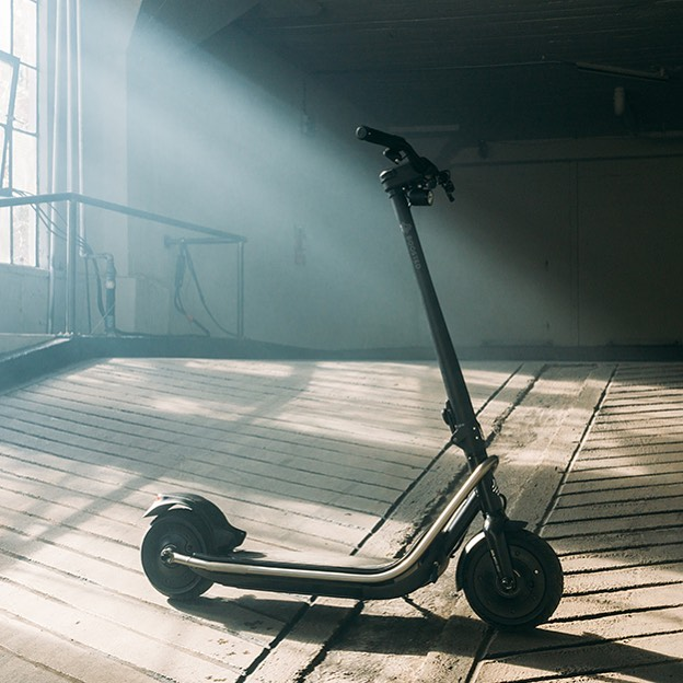 Boosted Rev scooter in warehouse