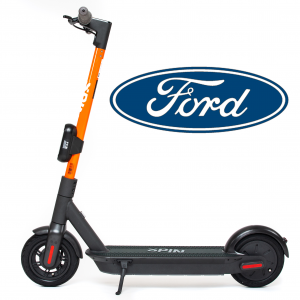 Spin electric scooter and Ford logo