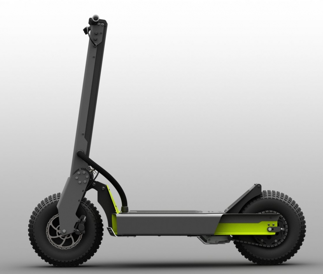 Electric scooter with big tires