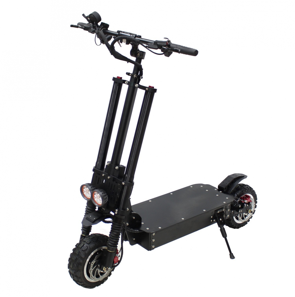 Black electric scooter from Nanrobot