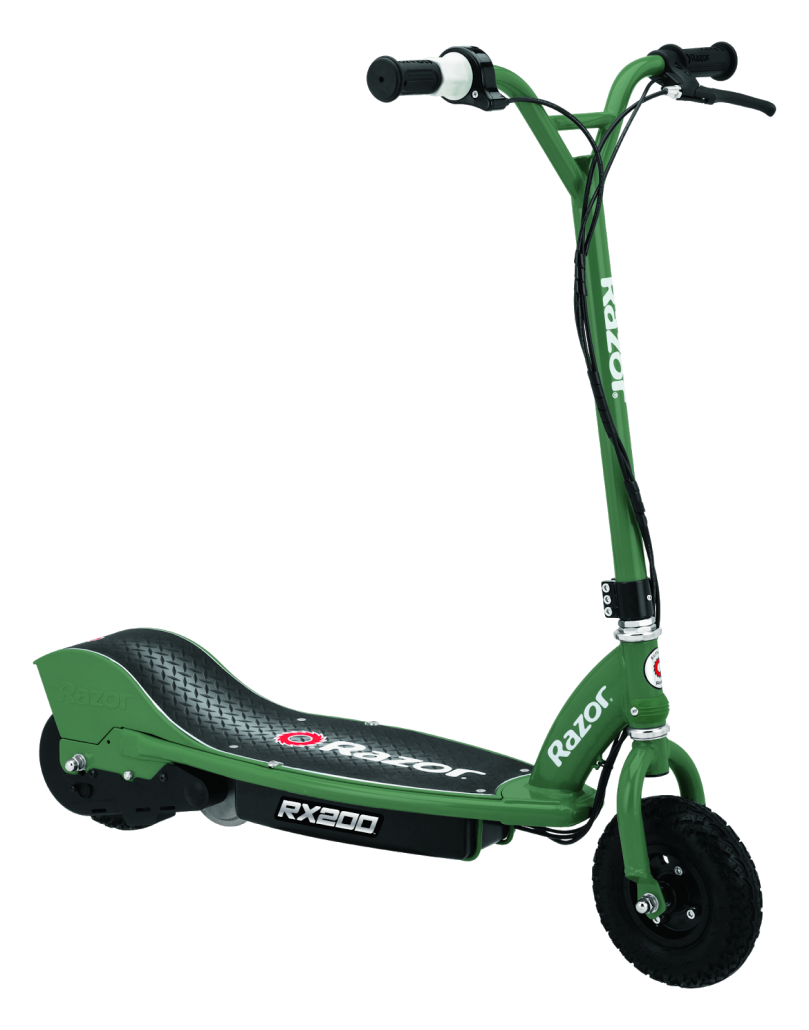 Color green electric scooter