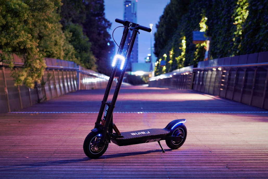 Raine electric scooter has great visibility